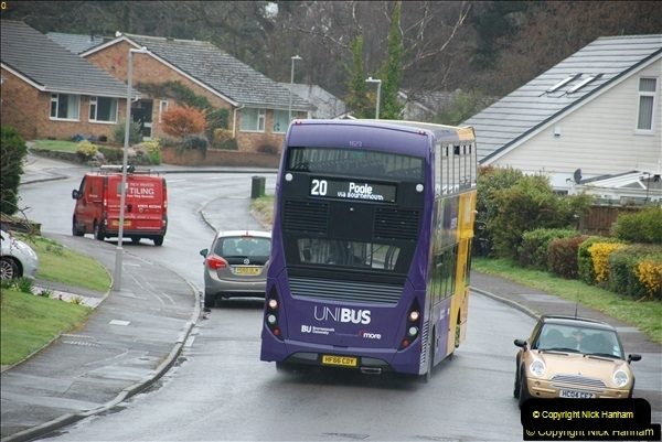 2018-04-09 First day of operation of the Route 20 by Wilts & Dorset.  (24)024