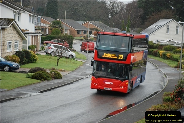 2018-04-09 First day of operation of the Route 20 by Wilts & Dorset.  (27)027