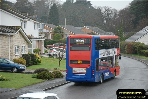 2018-04-09 First day of operation of the Route 20 by Wilts & Dorset.  (30)030