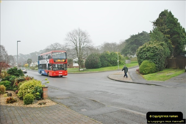 2018-04-09 First day of operation of the Route 20 by Wilts & Dorset.  (38)038