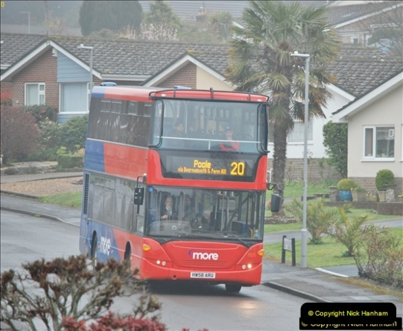 2018-04-09 First day of operation of the Route 20 by Wilts & Dorset.  (45)045