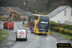 2018-04-09 First day of operation of the Route 20 by Wilts & Dorset.  (12)012