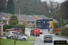 2018-04-09 First day of operation of the Route 20 by Wilts & Dorset.  (25)025