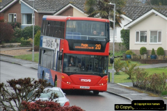 2018-04-09 First day of operation of the Route 20 by Wilts & Dorset.  (29)029