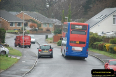 2018-04-09 First day of operation of the Route 20 by Wilts & Dorset.  (31)031