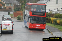 2018-04-09 First day of operation of the Route 20 by Wilts & Dorset.  (4)004