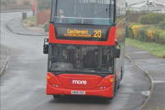 2018-04-09 First day of operation of the Route 20 by Wilts & Dorset.  (49)049
