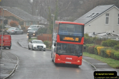 2018-04-09 First day of operation of the Route 20 by Wilts & Dorset.  (52)052