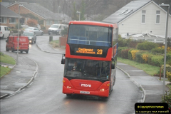 2018-04-09 First day of operation of the Route 20 by Wilts & Dorset.  (53)053