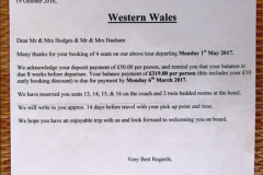 Western Wales Holiday 01 to 05 May 2017