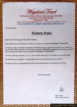 Western Wales Holiday 01 to 05 May 2017