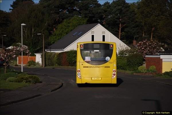 2015-04-27 First Bus route on your Host's Road.  (9)009