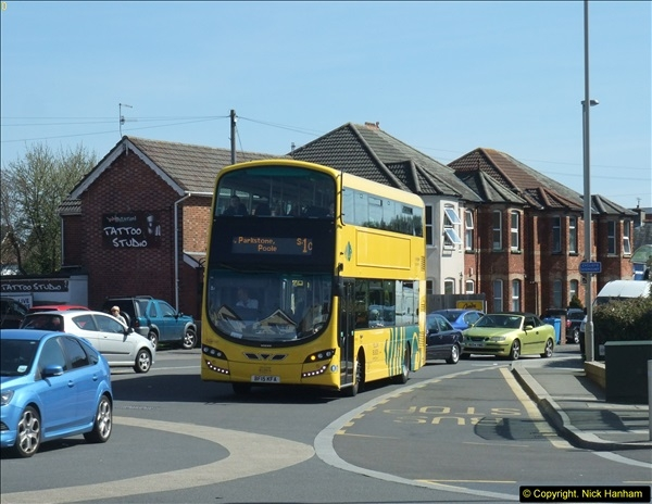 2015-04-07 New 15 plate Yellow Bus @ The Sea View, Parkstone, Poole, Dorset.  (2)30