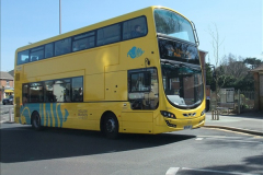 2015-04-07 New 15 plate Yellow Bus @ The Sea View, Parkstone, Poole, Dorset.  (5)33