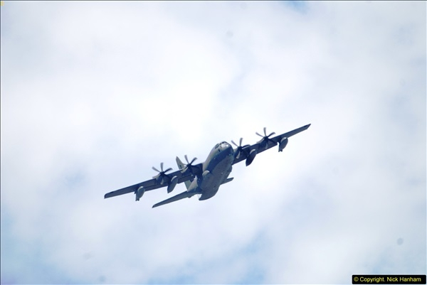 2015-07-10 Lockhead Hercules over Poole, Dorset.  A bonus as this aircraft was not on display at Yeovilton.  (1)001