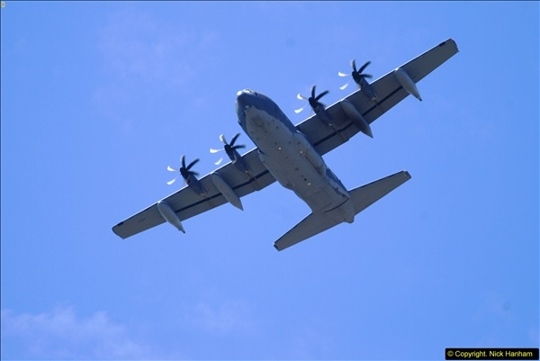 2015-07-10 Lockhead Hercules over Poole, Dorset.  A bonus as this aircraft was not on display at Yeovilton.  (2)002