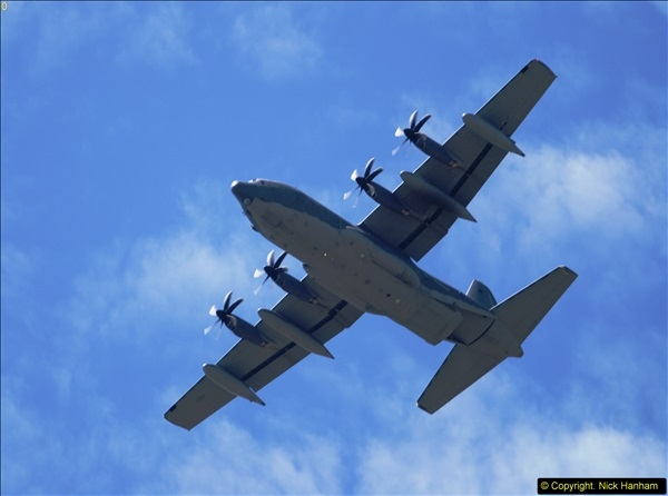2015-07-10 Lockhead Hercules over Poole, Dorset.  A bonus as this aircraft was not on display at Yeovilton.  (3)003