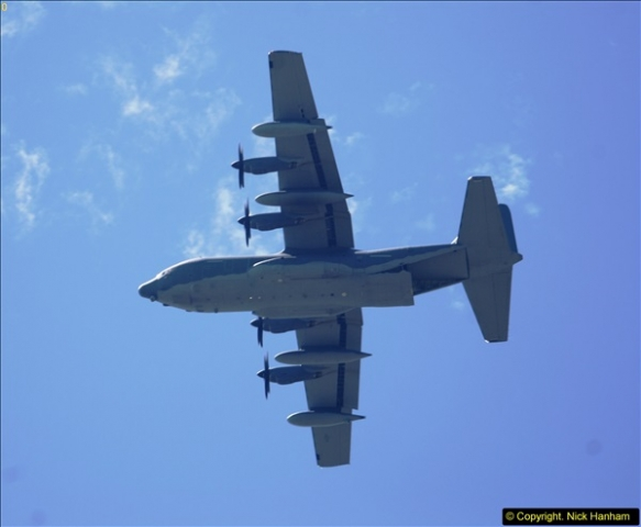 2015-07-10 Lockhead Hercules over Poole, Dorset.  A bonus as this aircraft was not on display at Yeovilton.  (4)004