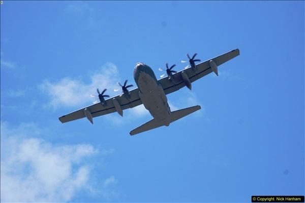 2015-07-10 Lockhead Hercules over Poole, Dorset.  A bonus as this aircraft was not on display at Yeovilton.  (8)008
